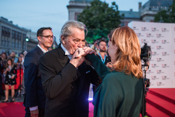 Red carpet with Alain Delon at TIFF 2017 / photo Dan Grigore