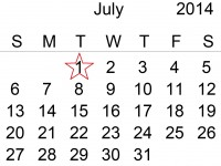 calendar 1 iulie