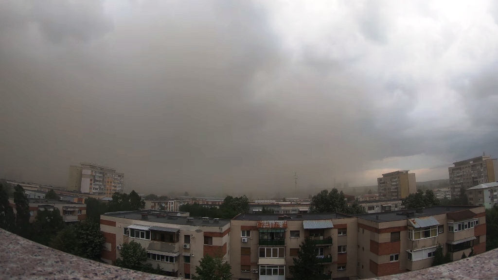 Ash cloud over Craiova