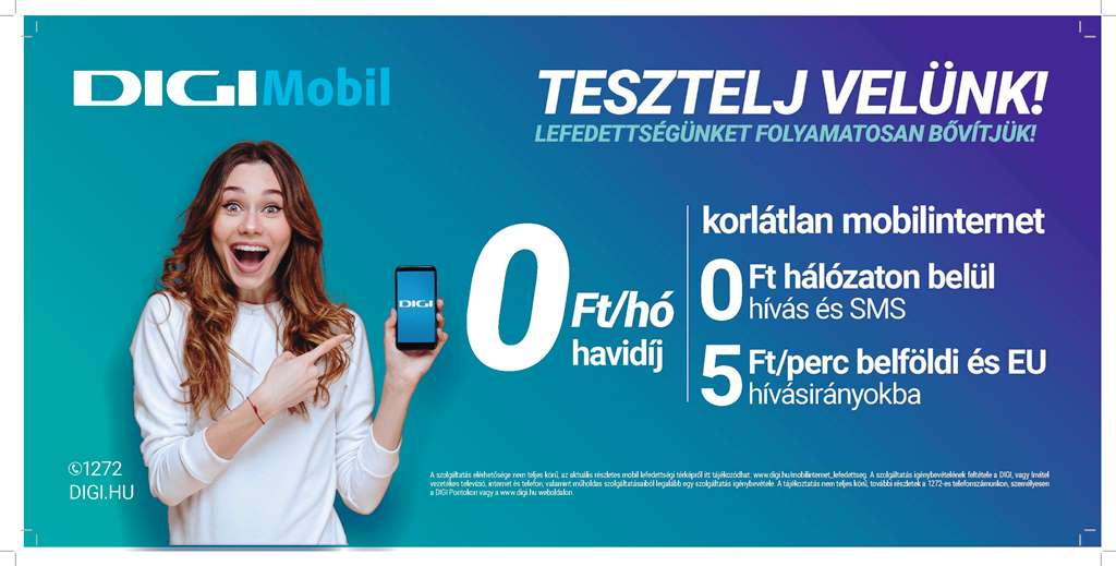 Digi launched mobile telephony services in Hungary through
